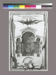 Elevazione ortografica della Tribuna, e del Presbiterio della Basilica Lateranense