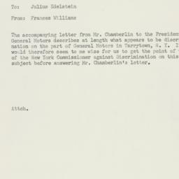 Memorandum : 1955 December 19