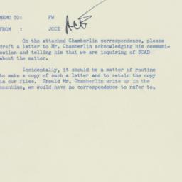 Memorandum : 1955 December 21
