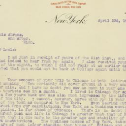 Letter : 1906 April 23