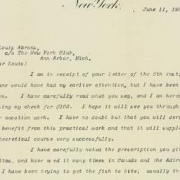 Letter : 1907 June 11