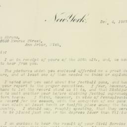 Letter : 1907 December 4