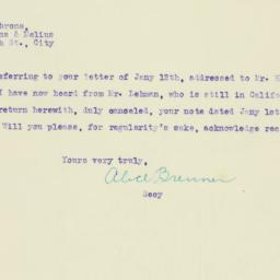 Letter: 1920 February 17