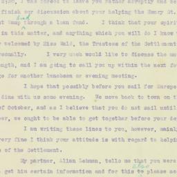 Letter : 1921 October 1