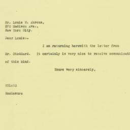Letter: 1925 August 26