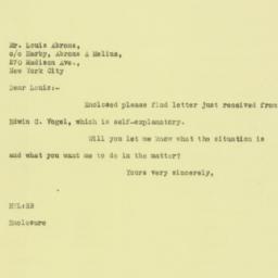 Letter: 1925 September 15