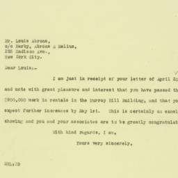 Letter: 1926 April 21
