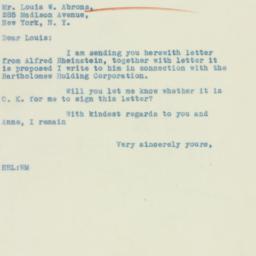 Letter: 1933 January 30