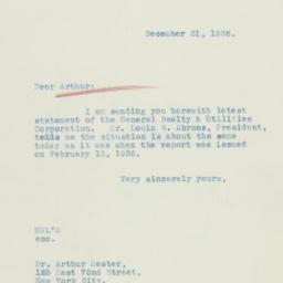 Letter: 1936 December 31