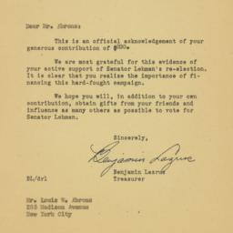 Letter: 1950 October 9