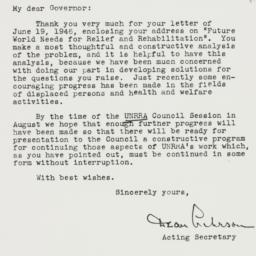 Letter: 1946 July 1