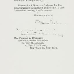 Letter: 1949 October 18