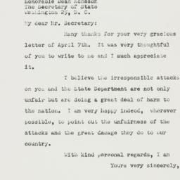 Letter: 1950 April 14
