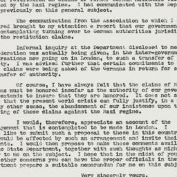 Letter: 1950 December 9