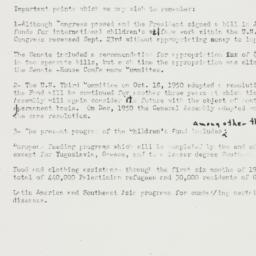 Memorandum: 1951 January 18