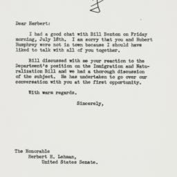 Letter: 1952 July 21