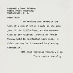 Letter: 1957 April 1