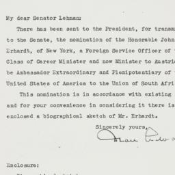Letter: 1950 May 2
