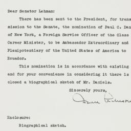 Letter: 1950 December 14