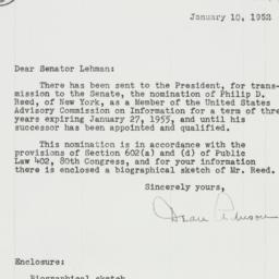Letter: 1952 January 10