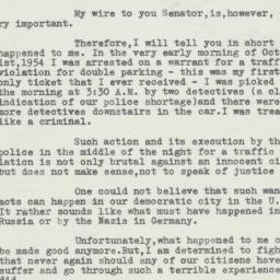Letter: 1954 October 19