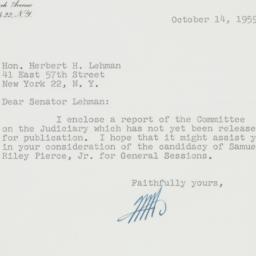 Letter : 1959 October 14