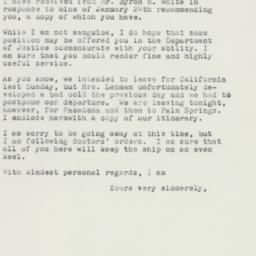 Letter : 1961 February 9
