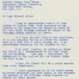 Letter: 1940 January 30