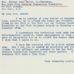 Letter: 1941 December 26