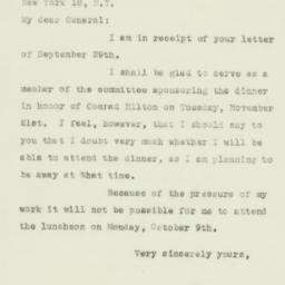 Letter: 1950 October 4
