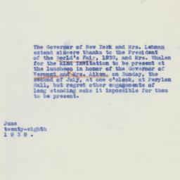 Letter: 1939 June 28