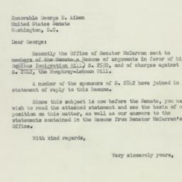Letter : 1952 May 12