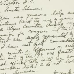 Letter: 1954 November 9