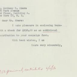 Letter: 1956 September 20