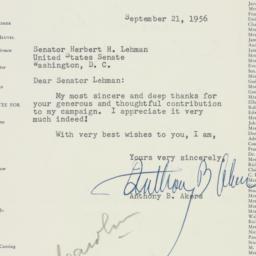 Letter: 1956 September 21