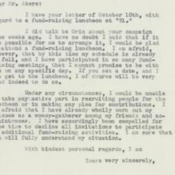 Letter: 1956 October 11
