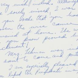 Letter: 1961 January 26