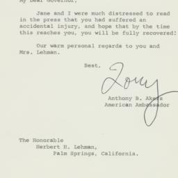 Letter: 1963 February 25