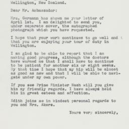 Letter: 1963 April 8