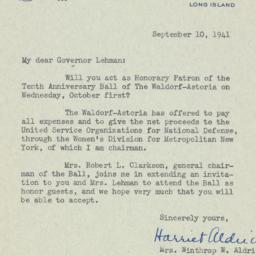Letter: 1941 September 10