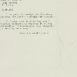 Letter: 1947 November 17