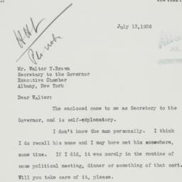 Letter : 1936 July 13
