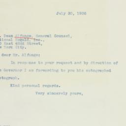 Letter : 1936 July 30