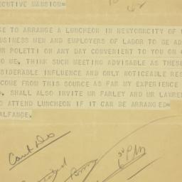 Telegram: 1938 October 20