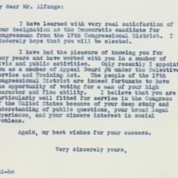 Letter: 1941 February 8