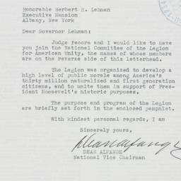 Letter: 1941 November 24