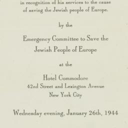 Invitation : 1944 January 26
