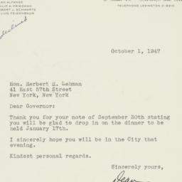 Letter : 1947 October 1