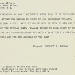 Telegram : 1948 January 17