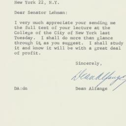 Letter: 1957 April 8